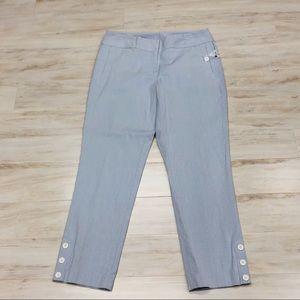Rafaella light blue and white striped cotton pants